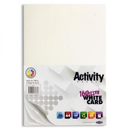 Premier A4 White Activity Card